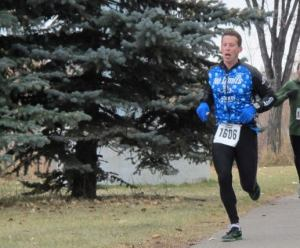 Ian looking strong during the Last Chance Half Marathon