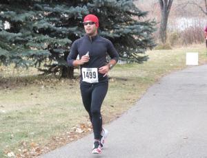 Raf on his way to PB the Last Chance Half Marathon