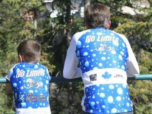 Johnny and Todd Cheering in Banff